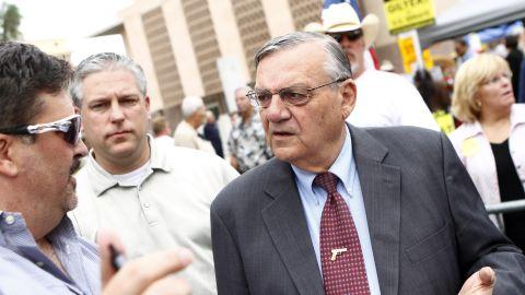 Arizona Sheriff Joe Arpaio, of Maricopa County, at a Tea Party Express rally in Phoenix in October.