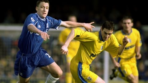 John Terry made his Chelsea debut as a substitute against Aston Villa in 1998. After a short loan spell with second-tier Nottingham Forest, Terry established himself in the Chelsea first team during the 2000-01 English Premier League season.