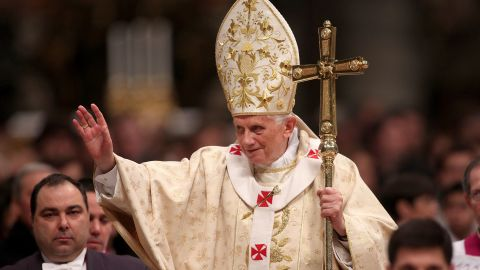 """Pope Benedict XVI told the faithful at Midnight Mass that """"we must dismount from the high horse of our 'enlightened' reason."""""""