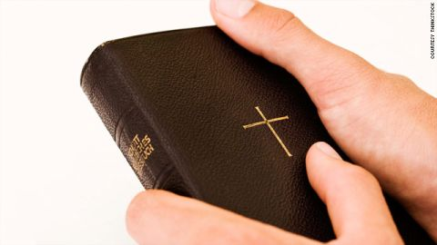 """""""Anything to put the Bible in people's hands is a good thing,"""" Gideons spokesman Ken Stephens said."""