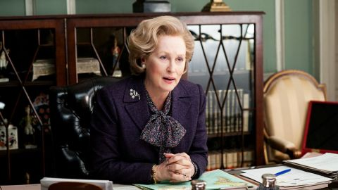 "Meryl Streep portrays Margaret Thatcher in ""The Iron Lady."""