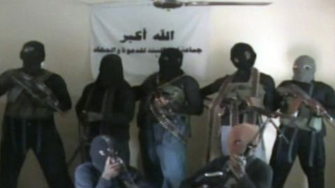 A screen grab made on October 21, 2010 allegedly showing members of the Nigerian Islamist group Boko Haram.