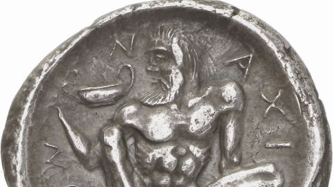 """Paul Hill, expert on ancient Greek coins, says many of the examples in the collection are """"miniature works of art."""""""