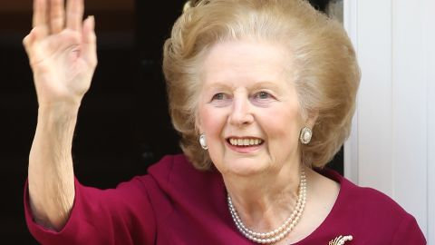 Margaret Thatcher leaves the Cromwell Hospital in London on November 1, 2010, after a recent bout of flu.