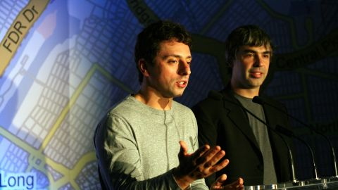 """Google's Sergey Brin, left, says SOPA would put the U.S. """"on par with most oppressive nations in the world."""""""