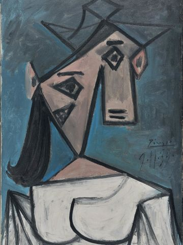 This portrait of a woman by Pablo Picasso, from 1939, is among a number of works stolen from the National Gallery in Athens, Greece, on Monday 9 January 2012.