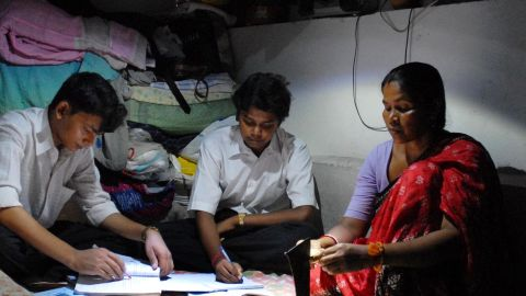 """The """"MightyLight"""" (pictured), developed by a small start-up in Delhi, India is already being used by 100,000 of the country's poorest people. It can be applied as a ceiling light, wall light, or torch light; is both water and shock proof; can run for up to 12 hours on a single charge and comes in at $25."""