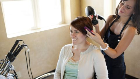 Frequent trims at the salon won't make your hair grow faster.