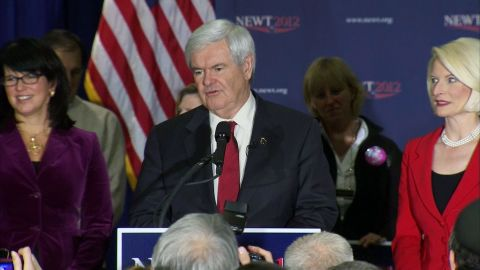 Gingrich speaks in Manchester, NH after primary vote