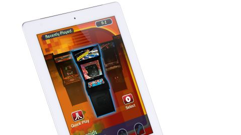 """If you own an iPad and are nostalgic for those arcade video games of your misspent youth, <a href=""""http://discoverybaygames.com/appcessories/atari-arcade-duo-powered-joystick"""" target=""""_blank"""" target=""""_blank"""">this gadget</a> is for you. Slip the iPad or iPad 2 into the dock, download an Atari app and wiggle the joystick to play Asteroids, Centipede and all those retro classics. Available: now. Price: $59."""