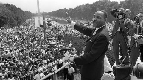 """Martin Luther King Jr.'s emphasis on nonviolence and service to his """"beloved community"""" garnered the civil rights leader worldwide recognition. In 1964, at 35 years old, King became the youngest person to win the Nobel Peace Prize."""