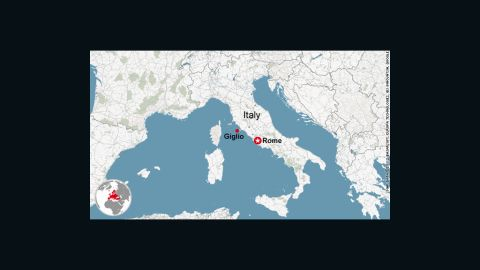 Map: Giglio, Italy