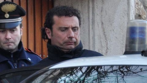 Francesco Schettino, captain of the Costa Concordia, is taken into custody Saturday.