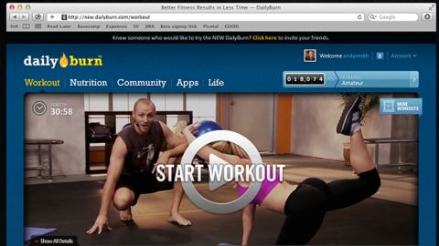 DailyBurn.com offers customized workouts via streaming video on your computer, phone or Internet-connected TV.