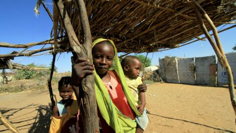 Sudanese children at the Kalma camp for the internally displaced on the outskirts of Nyala pictured in 2010.