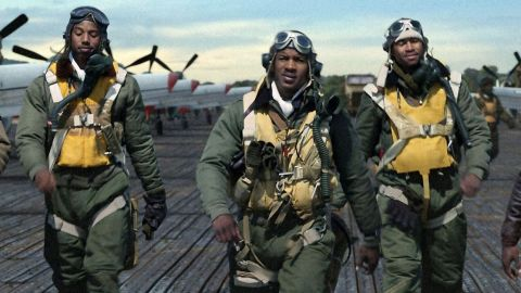 """""""Red Tails"""" is about the very first African-American military pilots, who served in segregated units during World War II."""