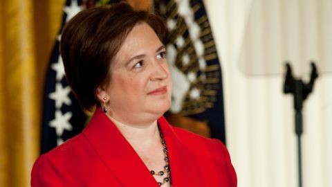 Elena Kagan attends a White House ceremony marking her confirmation to the Supreme Court in August 2010.