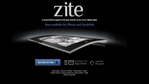 Zite customizes news sites to create a personalized digital magazine.