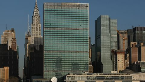 The narcotics were found in at least one bag that turned up at the U.N. headquarters in New York.