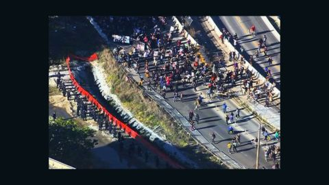 Oakland police clashed with Occupy Oakland protesters on Saturday.
