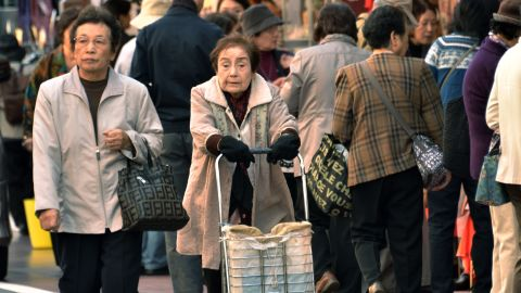 Japan's population will continue to drop as the graying nation's aging accelerates and the birthrate stays low.