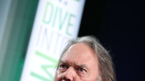 Improving the quality of digital music is a personal mission for Neil Young, who spoke at a media conference Tuesday.