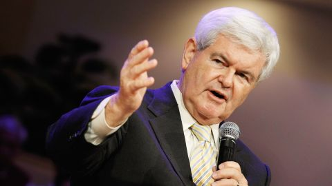 Republican presidential candidate Newt Gingrich speaks in Winter Park, Florida.