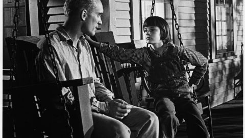 Boo Radley and Scout Finch.