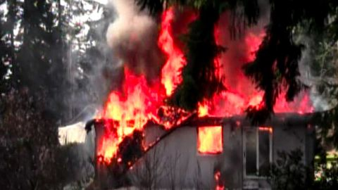 At explosion occured at Josh Powell's house after he got his two young sons inside, officials said.
