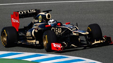 Lotus displayed their first car since changing name from Renault on Sunday. The Britain-based team's new E20 will be driven by 2007 world champion Kimi Raikkonen and Frenchman Romain Grosjean.