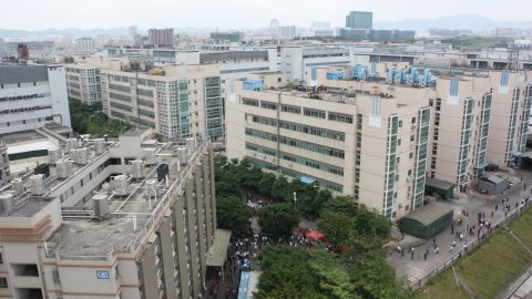Foxconn's Longhua plant, which employs 300,000 workers.