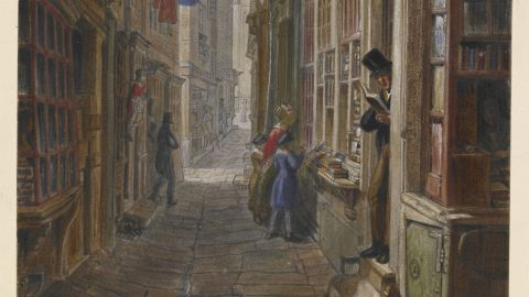 """As a boy, Dickens frequented """"pudding shops"""" near the warren of small alleys and lanes south of St Martin's-in-the-Fields in central London."""