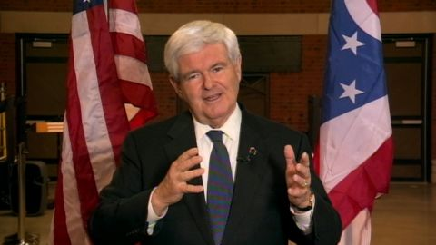 Newt Gingrich says he is focused on running a nationwide campaign.