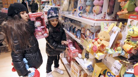 french kids in dept. store