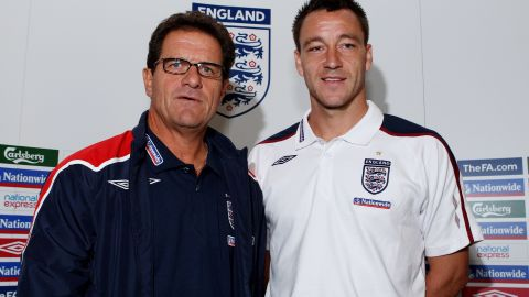 Capello stripped Chelsea's John Terry of the England captaincy in February 2010 after newspaper allegations about his private life. Terry was reinstated as captain in 2011.