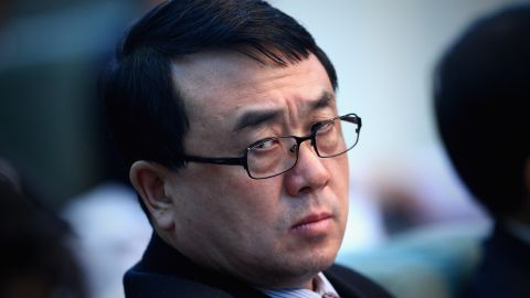 A file image of Wang Lijun at the National People's Congress in Beijing.