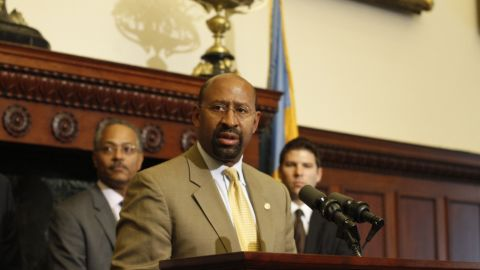 """Philadelphia Mayor Michael Nutter has been outspoken against criminals, calling them """"dogs"""" and """"idiots."""""""