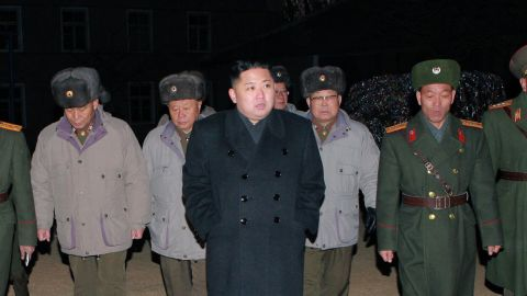 This undated handout picture released from North Korea's official Korean Central News Agency on February 9, 2012 shows North Korean leader Kim Jong Un (C) inspecting the Command of Large Combined Unit 324 of the Korean People's Army at undisclosed place in North Korea. AFP PHOTO / KCNA via KNS ---EDITORS NOTE--- RESTRICTED TO EDITORIAL USE - MANDATORY CREDIT 'AFP PHOTO / KCNA VIA KNS' - NO MARKETING NO ADVERTISING CAMPAIGNS - DISTRIBUTED AS A SERVICE TO CLIENTS (Photo credit should read KNS/AFP/Getty Images)