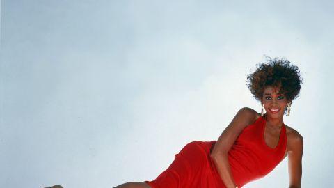 Houston strikes a glamorous pose for a photo in 1987.