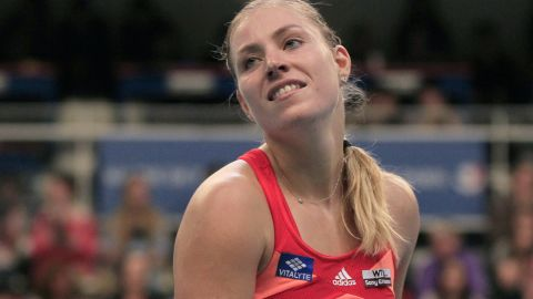 Angelique Kerber had reasons to be cheerful after a stunning victory over Marian Bartoli in the Paris final.