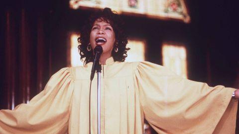 "Houston stars in the 1996 movie ""The Preacher's Wife."""
