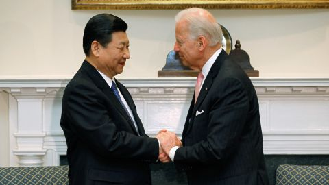 U.S. Vice President Biden holds bilateral meeting with Chinese Vice President Xi Jinping.