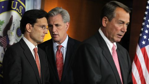 The top three Republican leaders in the House