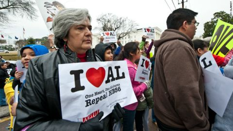 Seven protesters against the new measure were arrested, an ACLU attorney says.