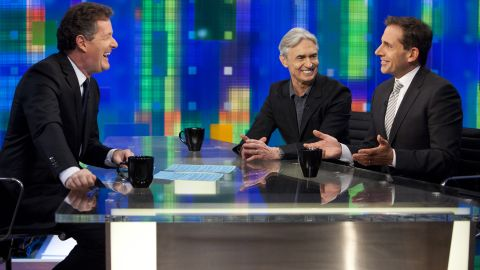 """Steve Carell (right) and David Steinberg are guests on Monday's """"Piers Morgan Tonight"""""""