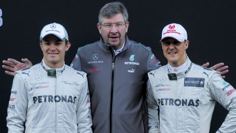 Team principal Ross Brawn worked with Schumacher at Italian marque Ferrari, where they won multiple world championships together.