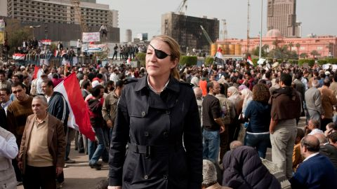 A handout picture obtained in London on February 22, 2012, from British newspaper the Sunday Times shows war correspondent Marie Colvin in Cairo, Egypt.