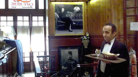 The historic Cafe Riche in downtown Cairo has long been a popular haunt for Egyptian thinkers young and old.