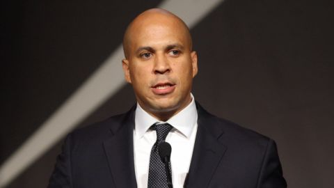 """Newark, New Jersey, Mayor Corey Booker said unprovoked surveillance of Muslims in his city """"clearly crosses a line."""""""