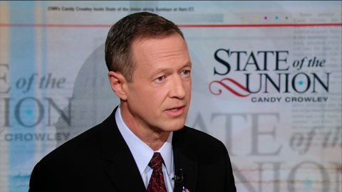 Democratic Maryland Gov. Martin O'Malley on State of the Union with Candy Crowley